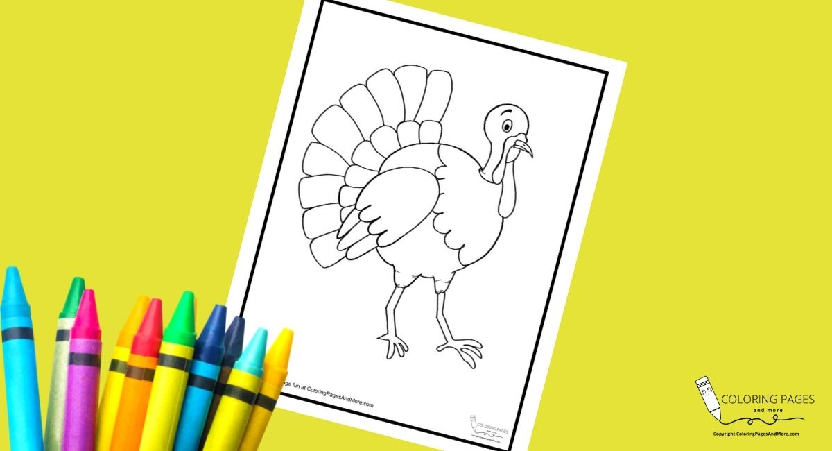 Fall Turkey Coloring Page