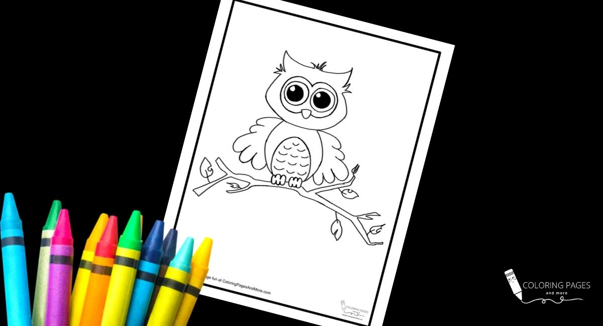 Fall Owl Coloring Page